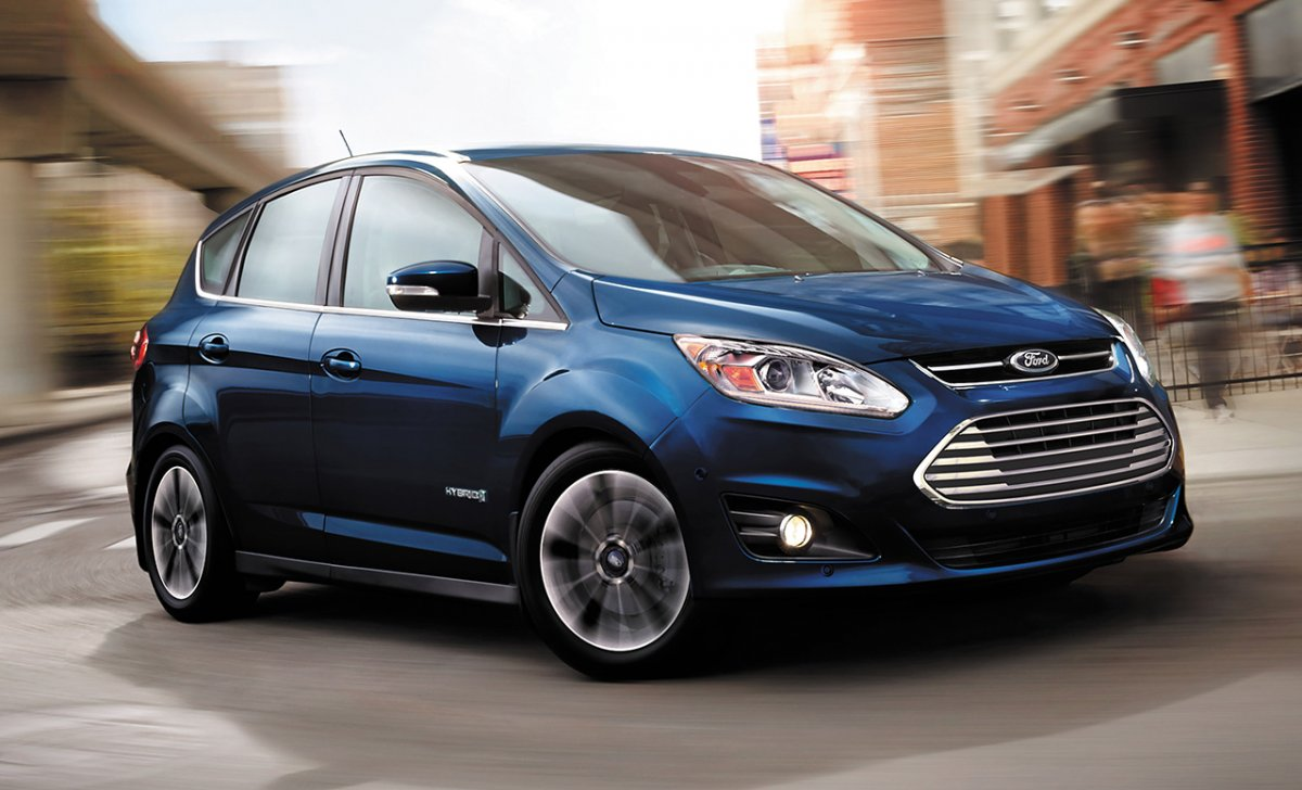 Ford C-Max Hybrid 2018 - car insurance - blue color front view