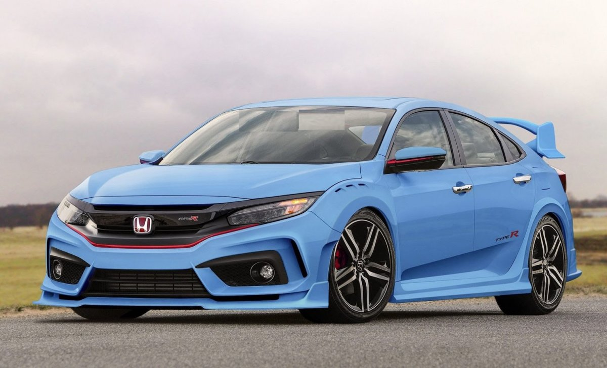 Honda Civic 2018 - car insurance - blue color