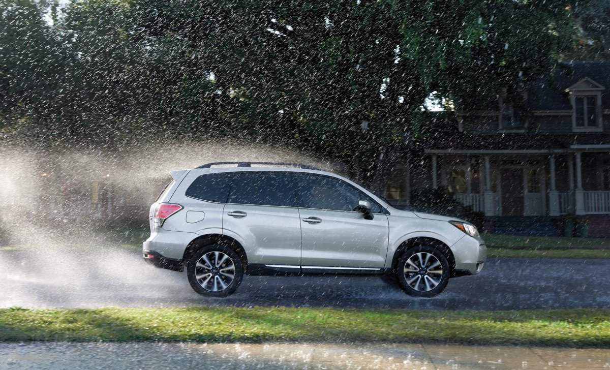 Subaru Forester 2018 - car insurance rates - 2.0XT Touring shown in Ice SIlver Metallic