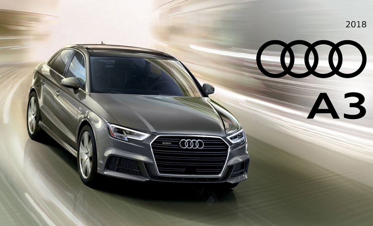 Audi A3 2018 - car insurance - Audi.com image with logo, front view