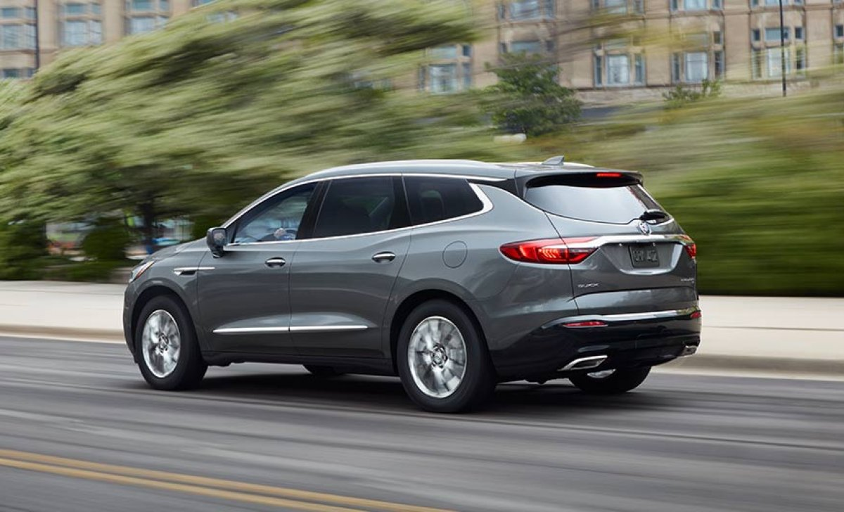 Buick Enclave 2018 - Car insurance rates - side view, blue, grey color