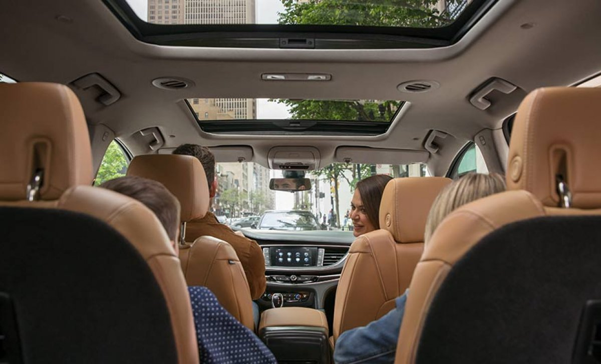 Buick Enclave 2018 - Car insurance rates - interior, seats, leather, view inside, passenger