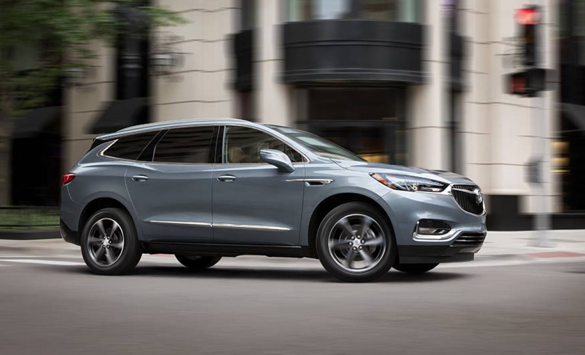 Buick Enclave 2018 - Car insurance rates - blue side view on the road