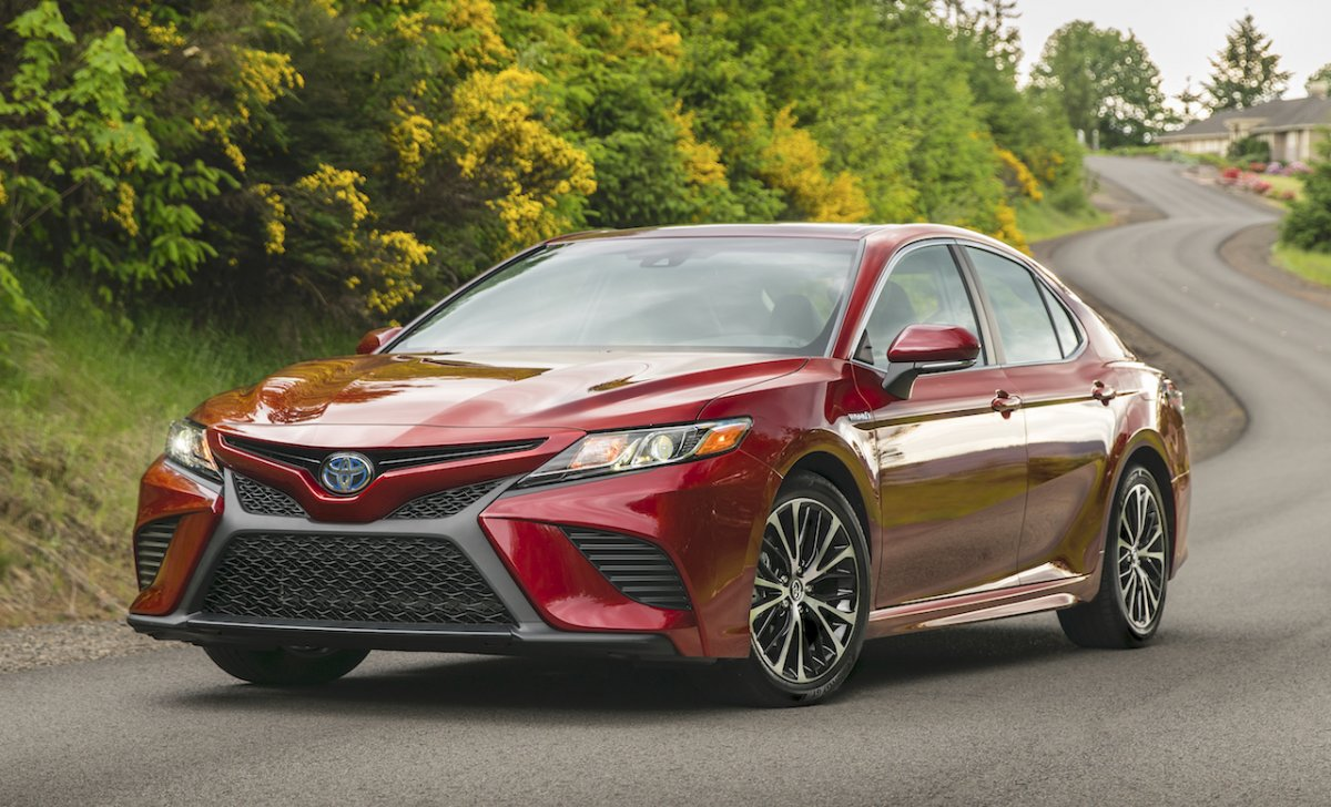 Toyota Camry 2018 - car insurance - red color front view