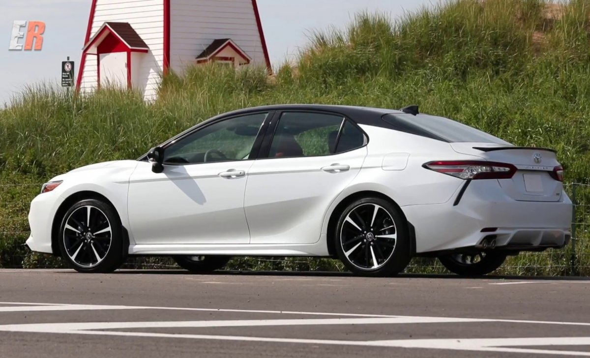 Toyota Camry 2018 - car insurance - white color side view