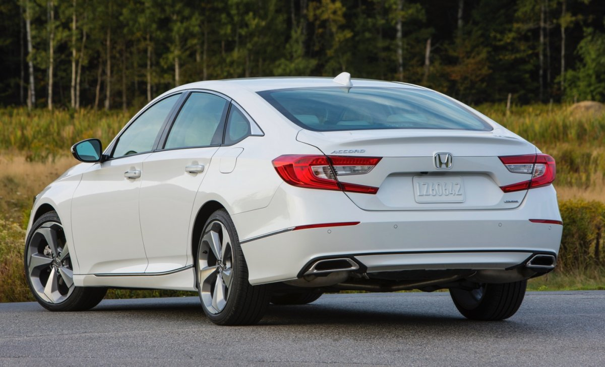 Car insurance for Honda Accord 2018 - white color, back look photo