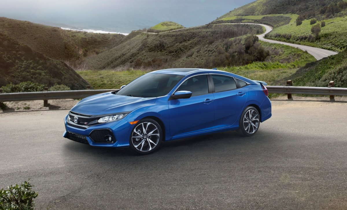 Honda Civic 2018 - car insurance - blue color, sedan