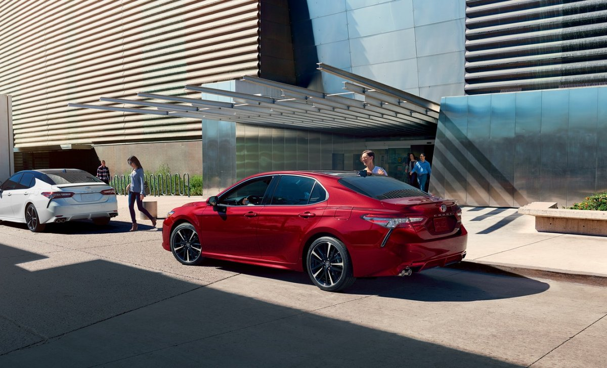 Toyota Camry 2018 - car insurance - red color from back view