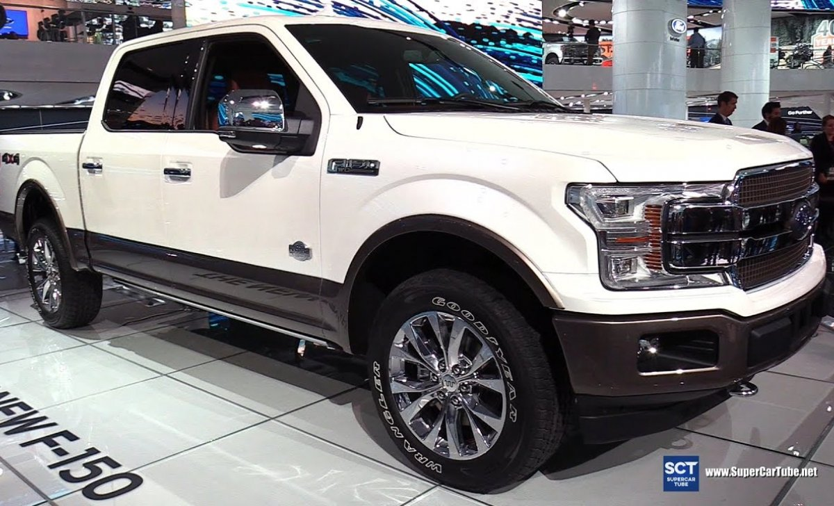 2018 Ford F-150 King Ranch - car insurance - white color, clean front side view