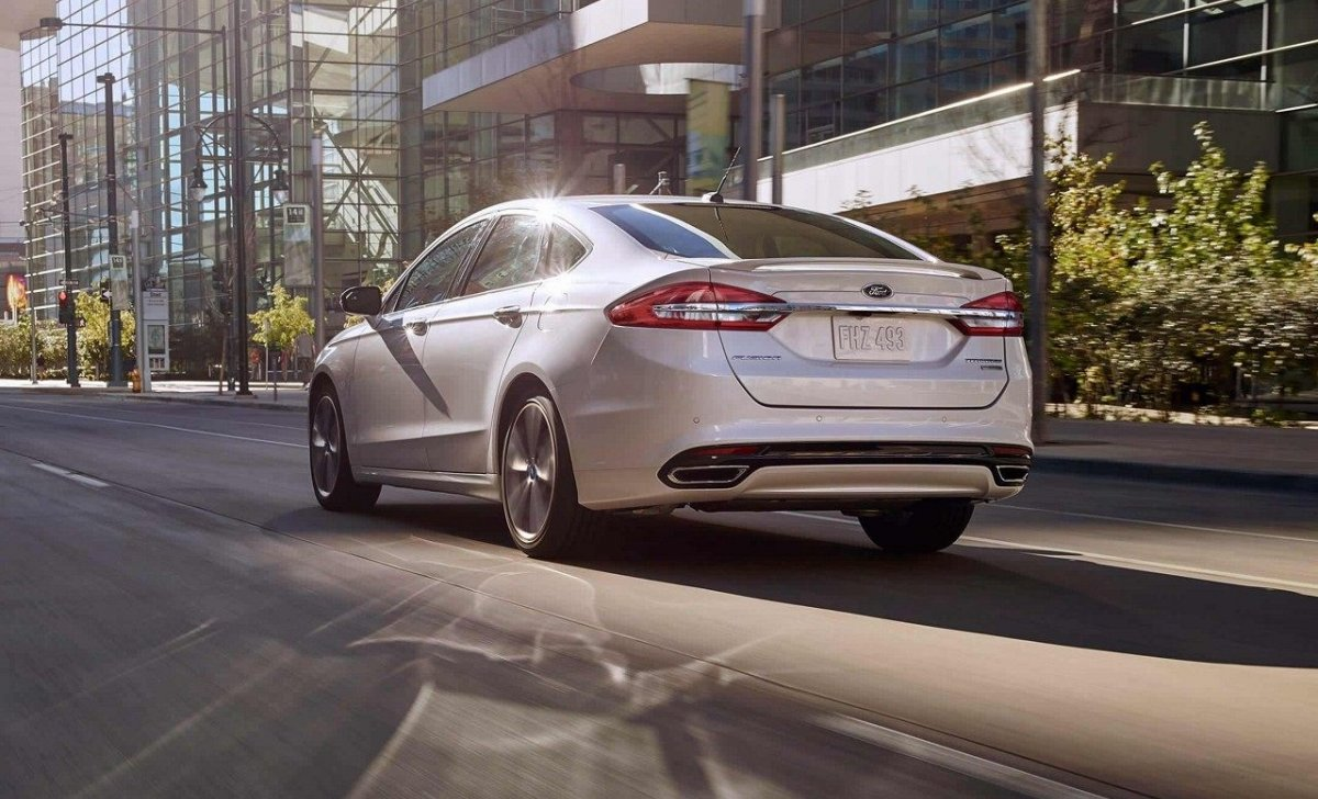 2018 Ford Fusion - Car Insurance - white color back view