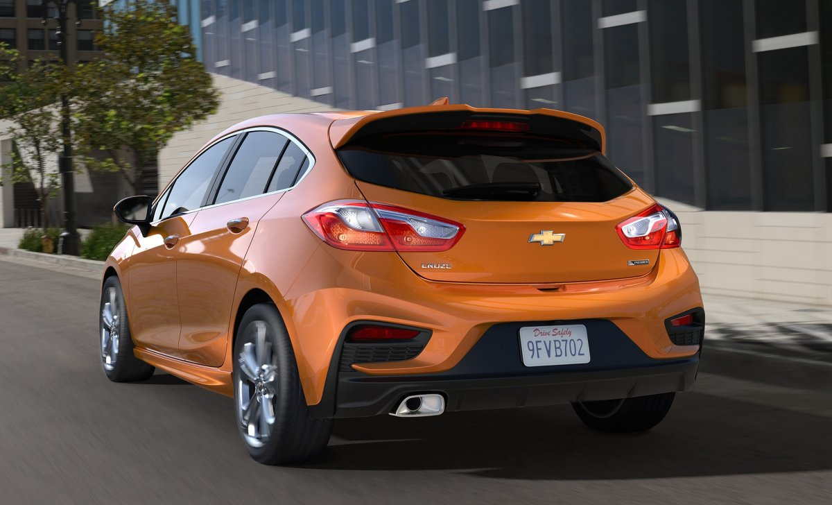 2018 Chevrolet Cruze 2018 - car insurance - orange color from back view