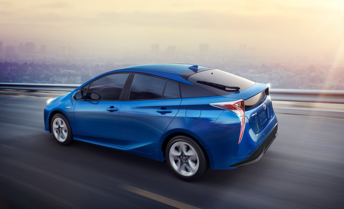 2018 Toyota Prius - car insurance - blue color side rear veiw