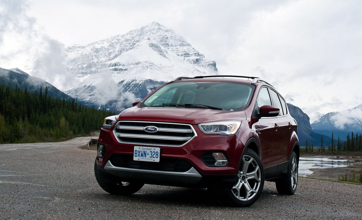 Ford Escape 2018 - car insurance - purple color front view