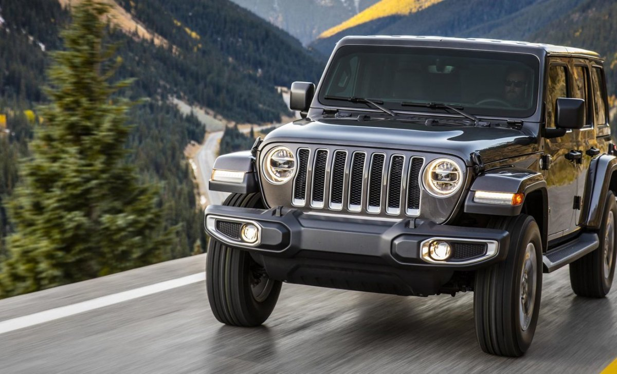 2018 Jeep Wrangler - car insurance - front view on the road