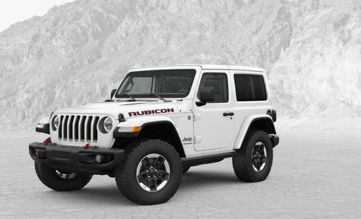 2018 Jeep Wrangler - car insurance - white color on snow, nice tires, wheels, perfect photo