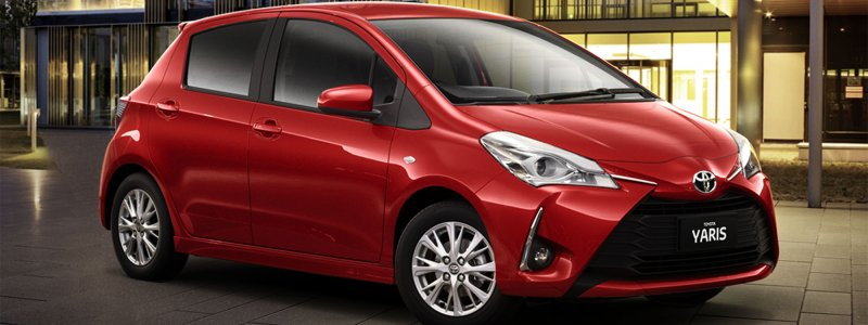 2017 Toyota, Yaris car insurance - red color