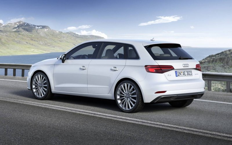 Audi A3 2018 - car insurance - white color on the road from side and back