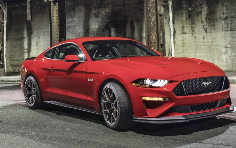 2018 Ford Mustang - Car insurance - red color